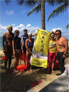 Ivni & Waiyee with the rest of the crew from Fishlike at East Coast Park
